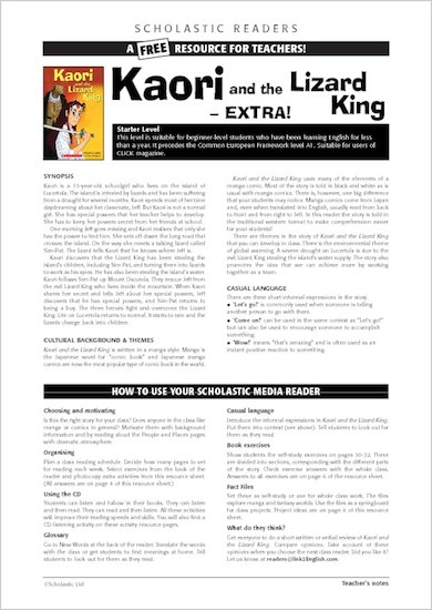 ELT Reader: Kaori and the Lizard King Resource Sheets & Answers