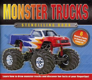 Monster Trucks Stencilling Book