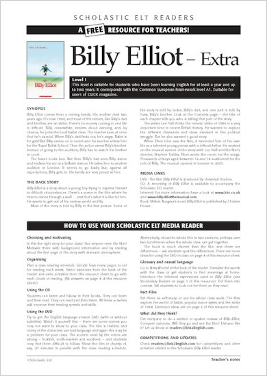 ELT Reader: Billy Elliot Resource Sheets & Answers