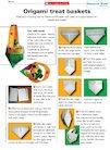 Origami treat basket