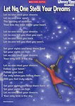 'Let no one steal your dreams' poem poster (1 page)