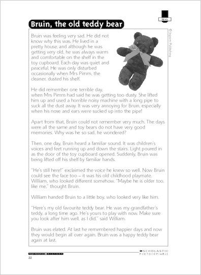 Bruin, the old teddy bear