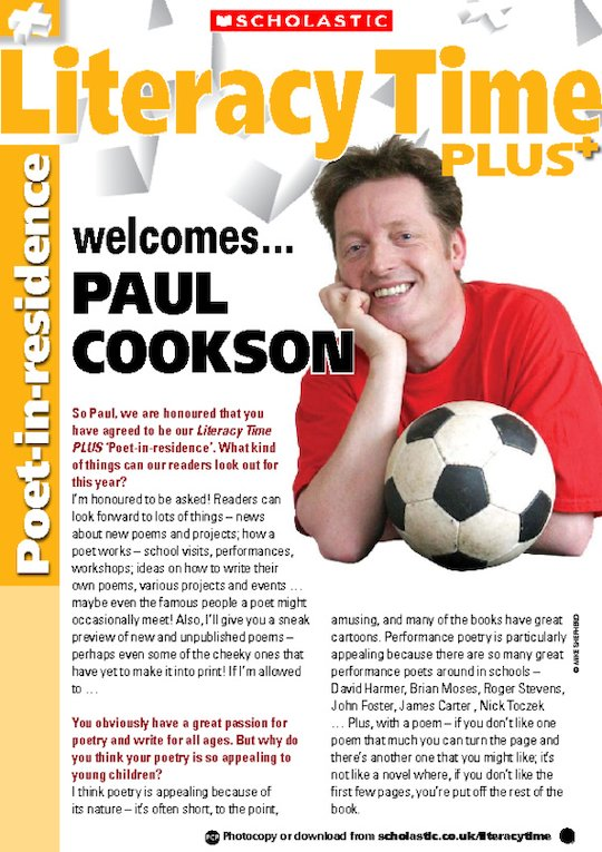 Paul Cookson - poetry, heroes and favourite food