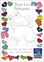 Aliens Love Underpants Colouring Activity