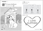 Timesaver Clifford Songs and Chants Sample Page - I love Clifford (2 pages)