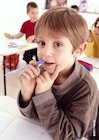 Boy with pen