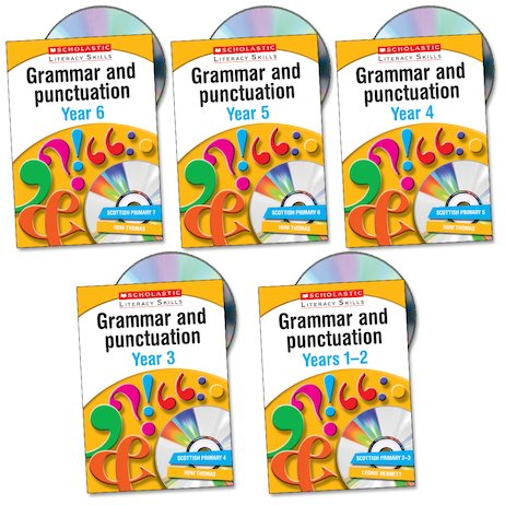 Scholastic Literacy Skills: Grammar and Punctuation Set x 5