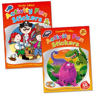 Activity Fun Stickers: Pirates and Dinosaurs