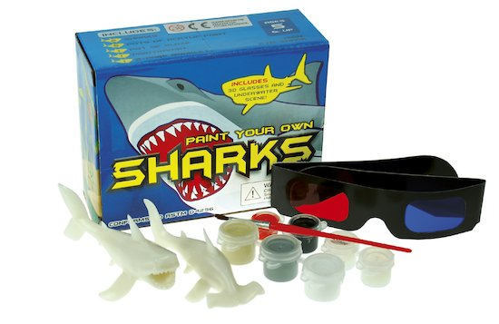 Paint Your Own 3D Sharks