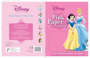 Disney Princess Pink Paper Colouring