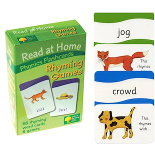Read at Home Flashcards: Rhyming Games