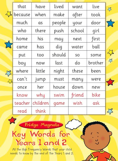 Key Words Magnets for Years 1 and 2: Pack 2