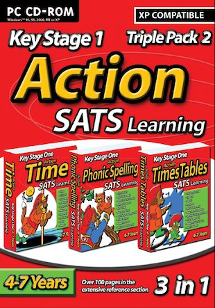 Action SATs CD-ROM Triple Pack: Phonic Spelling, Time, Times Tables
