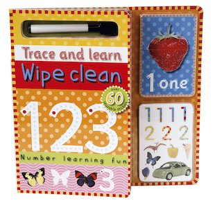 Trace and Learn Wipe-Clean 123