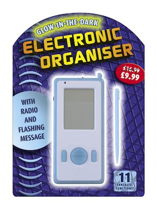 Glow-in-the-Dark Electronic Organiser