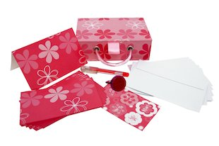 Mini Pink Stationery Box