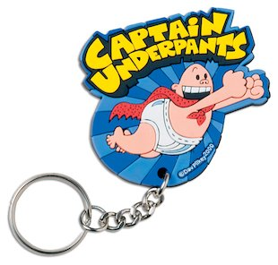 FREE Captain Underpants keyring