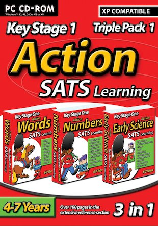 Action SATs CD-ROM Triple Pack: Words, Numbers, Early Science