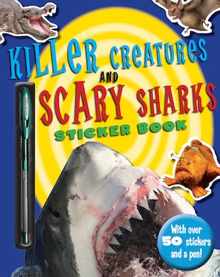 Killer Creatures and Scary Sharks Sticker Book