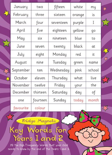 Key Words Magnets for Years 1 and 2: Pack 4