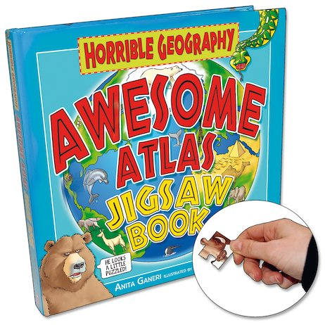 Awesome Atlas Jigsaw Book