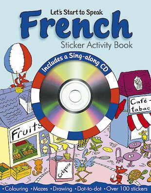 French Sticker Activity Book