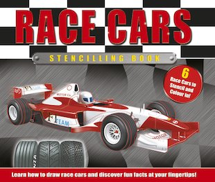 Race Cars Stencilling Book