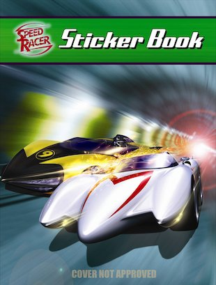 Speed Racer Sticker Book