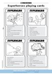 Superhero and villain playing cards (4 pages)