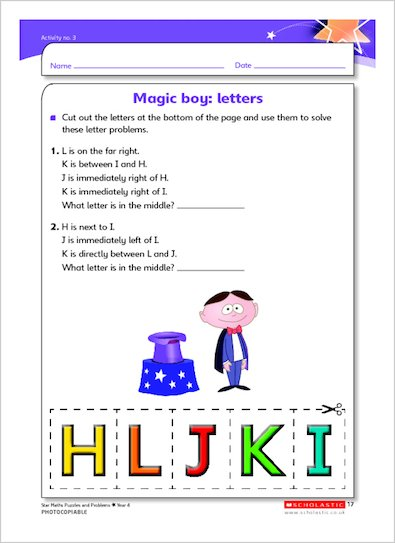 Magic boy: letters