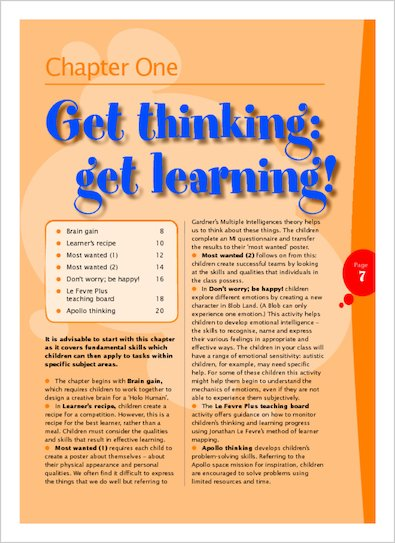 Get thinking, get learning!