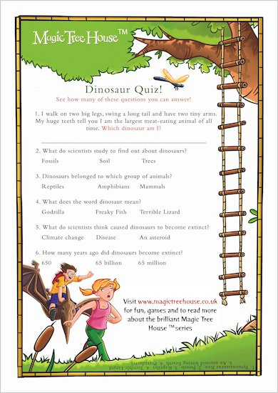Magic Tree House Quiz