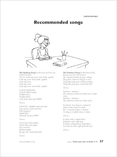 Recommended songs