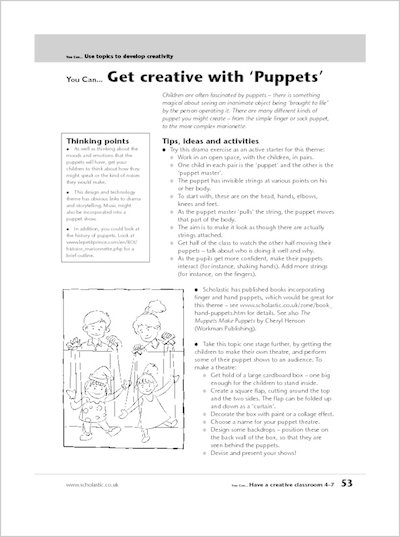 Get creative with 'Puppets'