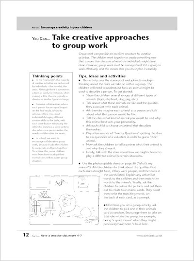 Take creative approaches for groupwork