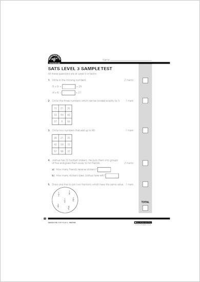 SATs level 3 sample test