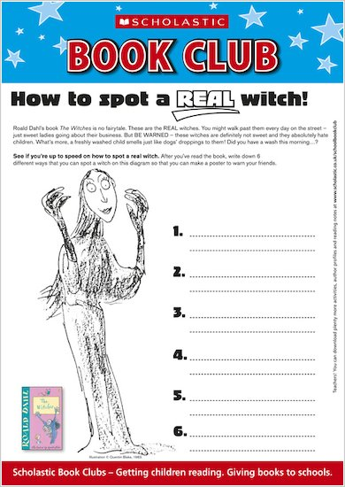 The Witches Puzzle Sheet