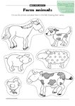 Farm animals (1 page)