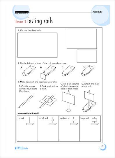 Theme 3: Testing sails