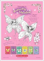Butterfly Meadow Colouring Fun