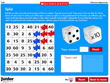 Daily Times Tables Teasers Interactive Games Primary Ks2