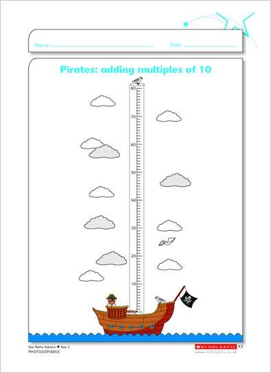 Pirates: adding multiples of 10