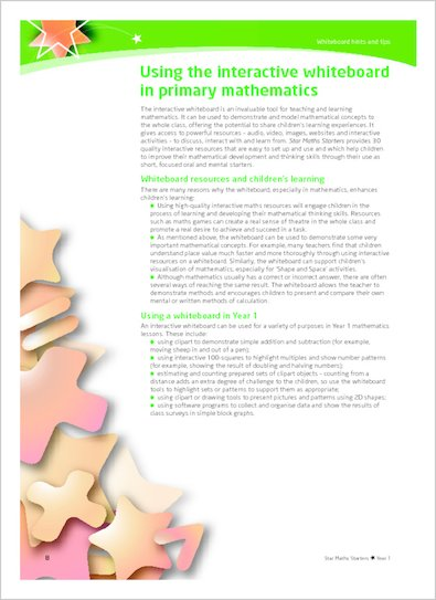 Using the Interactive Whiteboard in primary mathematics