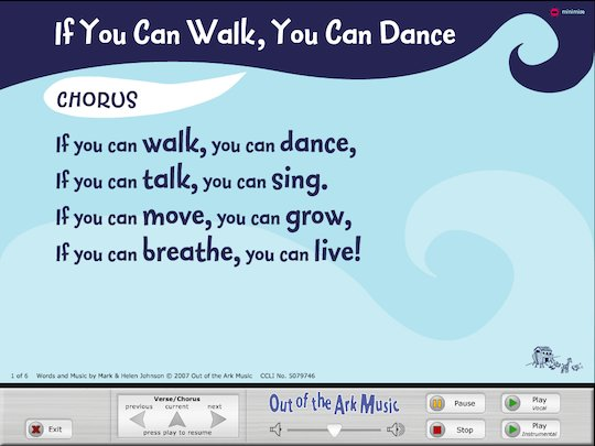 'If you can walk you can dance' song - interactive