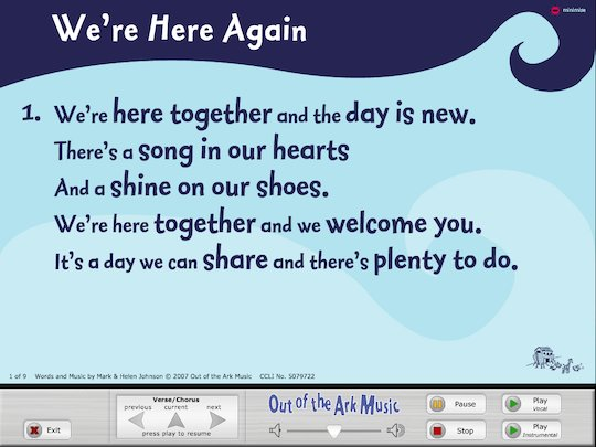 'We're here again' song - interactive