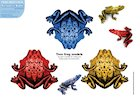 Paper model animals: Tree frogs