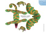 Paper model animals: Chameleon (2 pages)