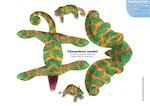 Paper model animals: Chameleon (2 pages)