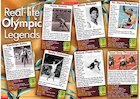 Real-life Olympic legends – fact poster
