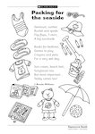 Packing for the seaside (1 page)